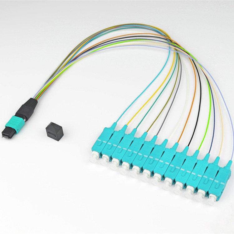 12COM3 MPO SU - 8 Core Single Mode MTP - LC/SC Fiber Breakout Cable