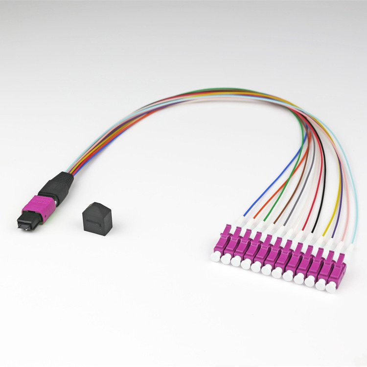 12COM4 MPO LU - 8 Core Single Mode MTP - LC/SC Fiber Breakout Cable